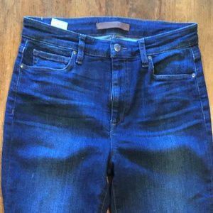 High rise skinny blue jeans by Joe's